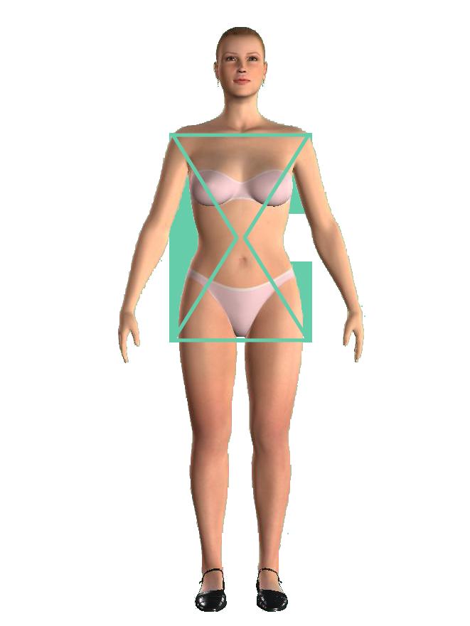 hourglass woman shape