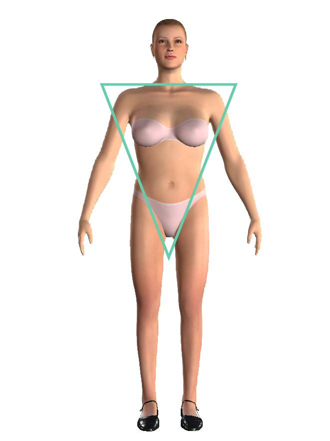 woman inverted triangle shape