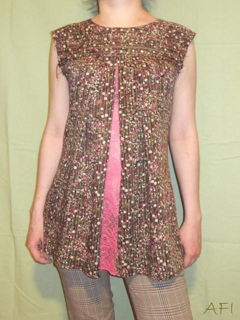 Sewing a spring blouse