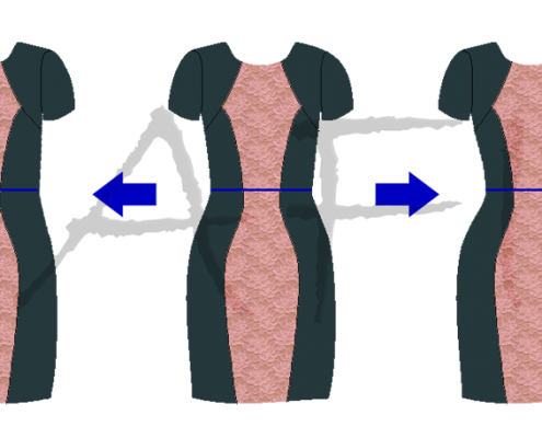 adjust waist on the hourglass dress pattern