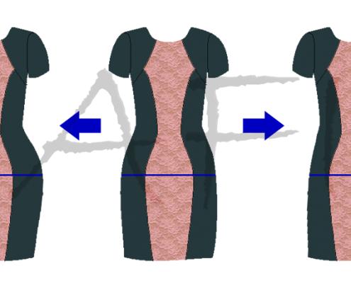 adjust hip for hourglass dress
