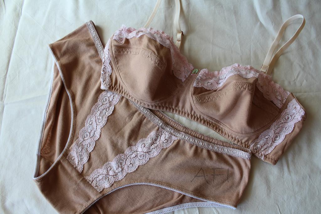 Nude lingerie set