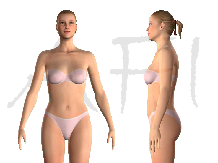 Measuring for bra size