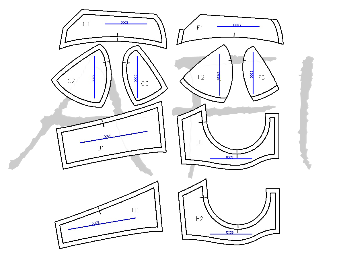 maya bra pattern pieces