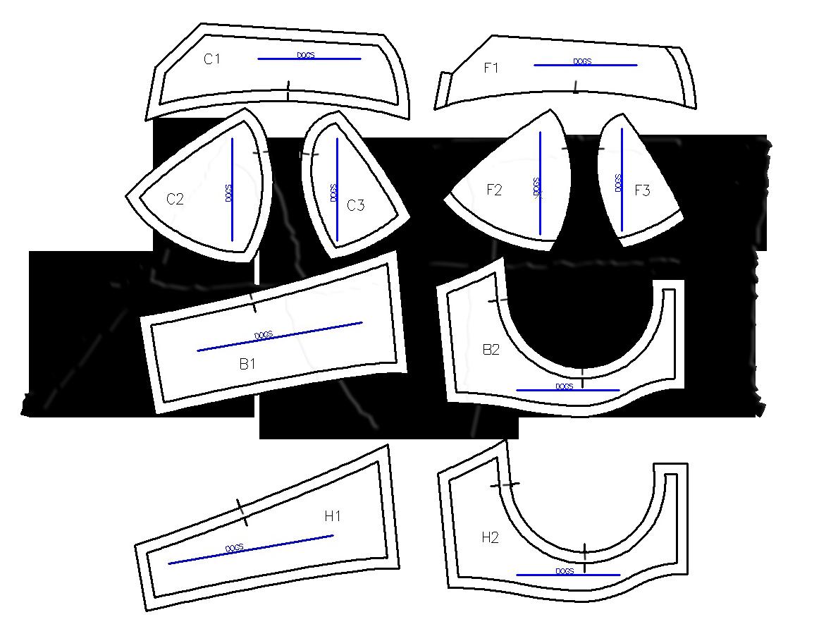 maya bra pattern pieces