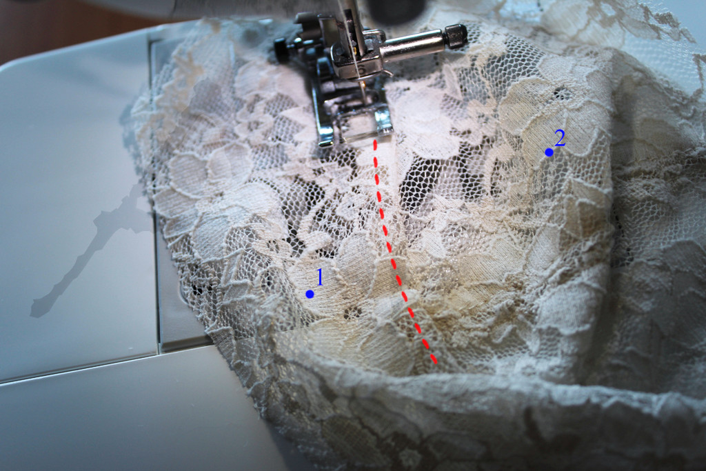 sewing maya lace bra cup