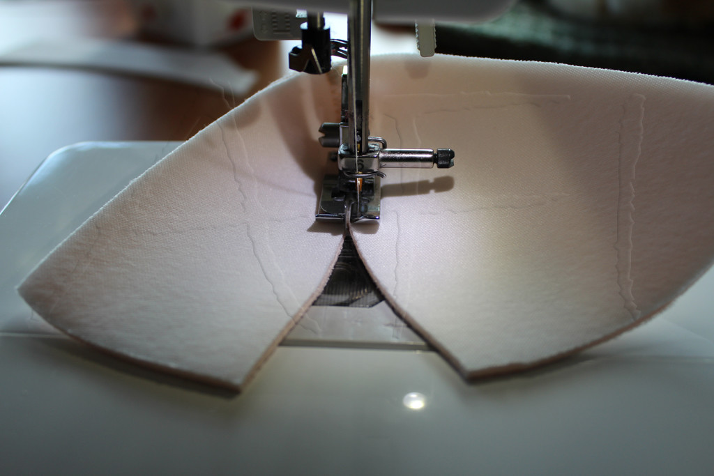 How to sew a bra – Step 7 2: Sewing cups - Sewing foam – AFI