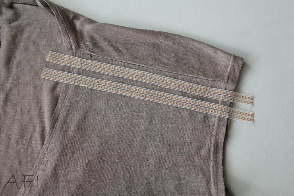 ribbons for shoulder seam