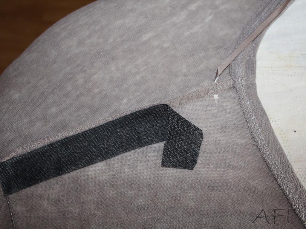 cover shoulder seam