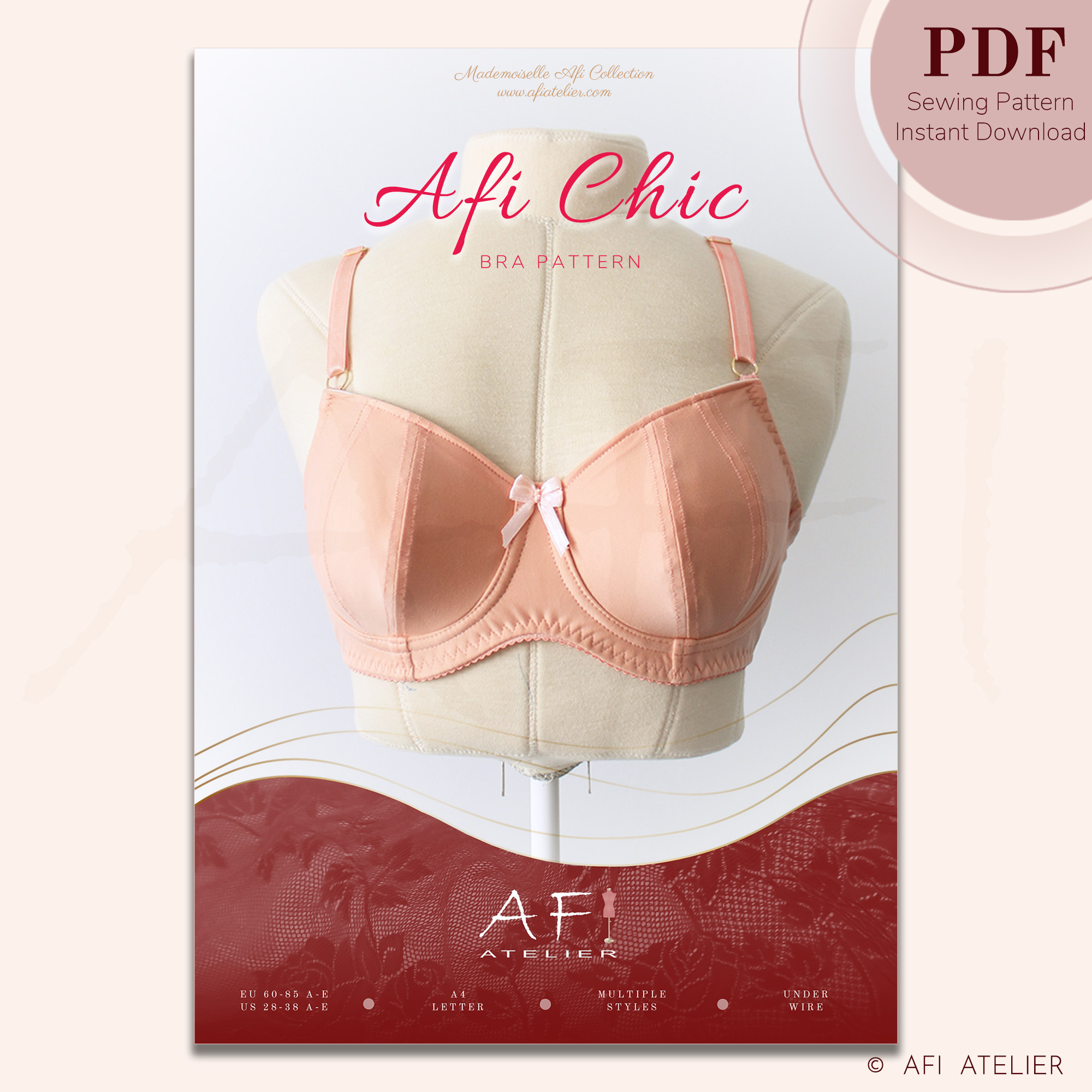 Afi Chic Bra Pattern from Afi Atelier