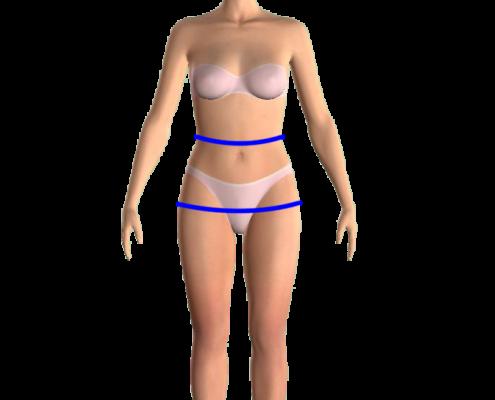 waist hip measurements