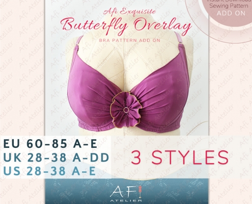 The Butterfly Add On for the Afi Exquisite Bra Pattern